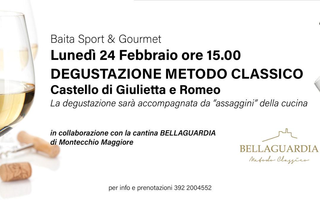 In baita Sport & Gourmet la degustazione della Cantina Bellaguardia di Montecchio Maggiore