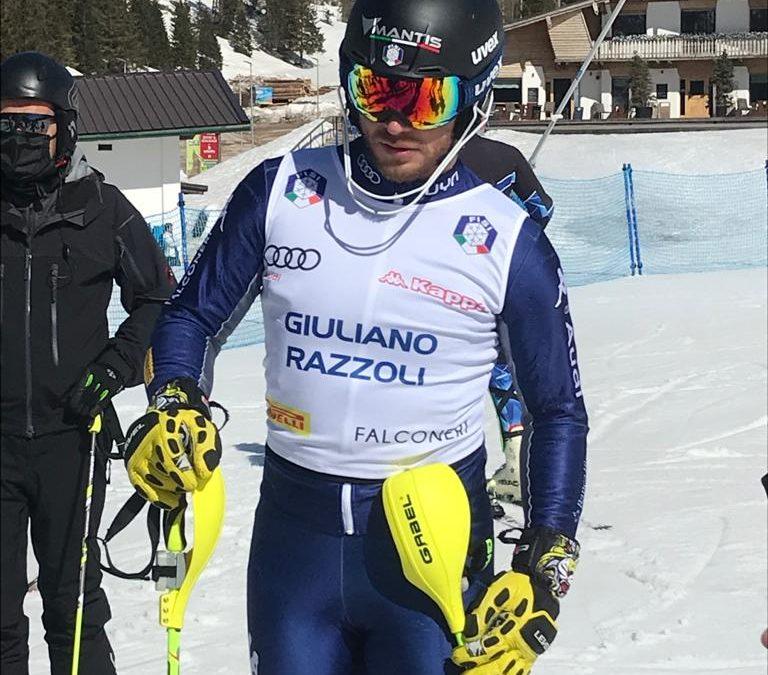 La Medaglia d'Oro Giuliano Razzoli oggi alla Ski Area leMelette